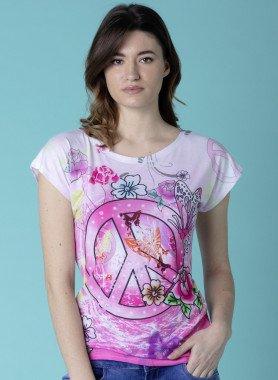Shirt à manches courtes «PEACE»