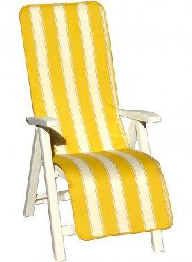 Coussins pour chaise longue, rayé