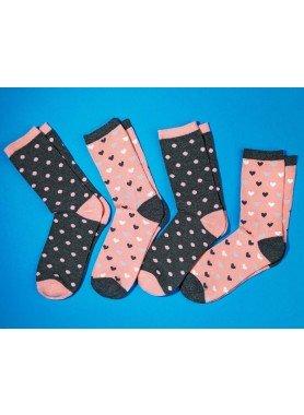 D-Socken,Tupen/Herz 4er-Set 3538 134 - 1 - Ronja.ch