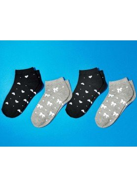 D-Socken,Herz-Schleife 4er-Set 3538 174 - 1 - Ronja.ch