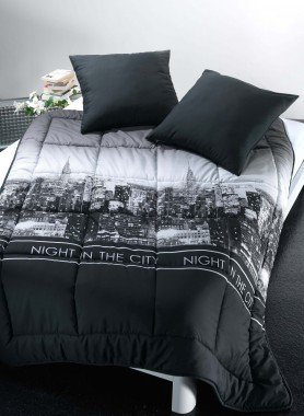 """Couvre-Lit  """"NIGHT  IN THE CITY"""""""