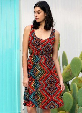 Robe Ethno multicolores