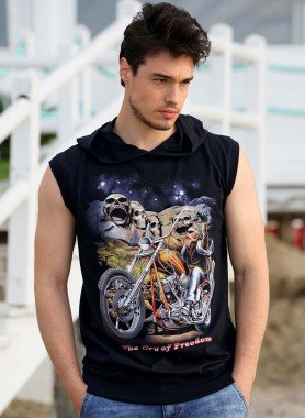 Shirt sans manches, capuchon, Bike