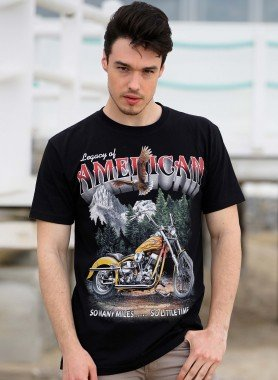 Shirt à manches courtes,  American/Bike