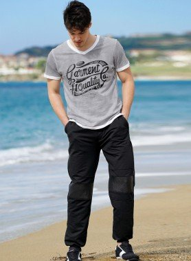 Pantalon de loisirs, emp.imitation cuir