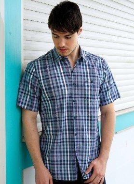 Chemise à manches courtes de LERROS, carreaux