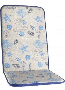Coussins pour chaises à dossier haut  *Etoiles de mer*