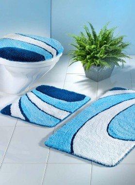 Garniture avec tapis WC sans coupe