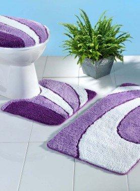 Garniture avec tapis WC  avec coupe