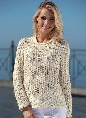 Pull-over crocheté