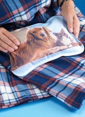 Sac chauffant électrique motif chien, couverture incl.