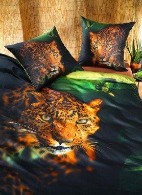 "Garniture de lit en satin ""WILD-LEO"""