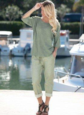 Pantalon 7/8, look plissé
