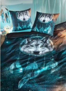 "Garniture de lit ""NIGHT-WOLF"""