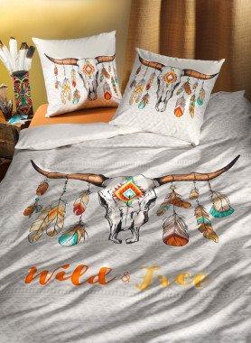 """Garniture de lit, imp.numérique """"WILD-BUFFALO"""""""