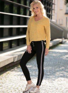5-Pocket-Jeans, Leopard-Streifen