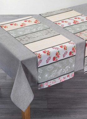 Nappe avec 2 chemins de table inclus