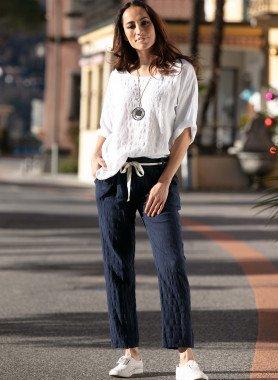 Pantalon, coton/lin