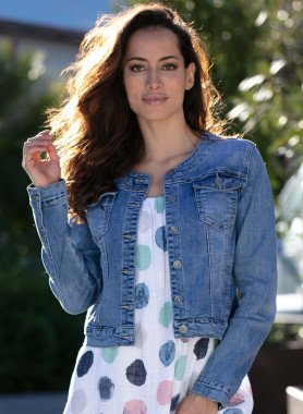Veste en jean,Blue-denim