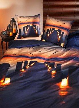 """Garniture de lit, impr.numérique  """"SUNSET"""""""