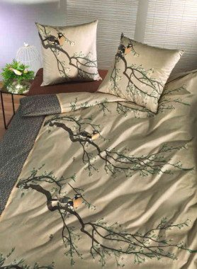 """Literie en fibres de bambou """"BIRDS-SPRING"""""""
