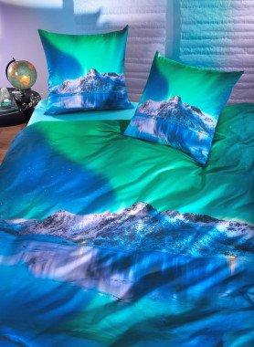 """Garniture de lit , impr.numérique """"NORDLICHT"""