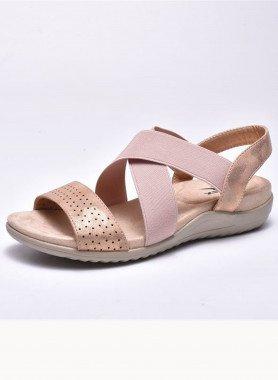 Sandales, talon compensé