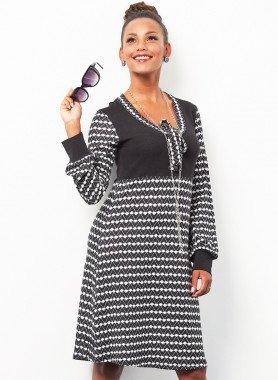 Robe, motif noir/blanc