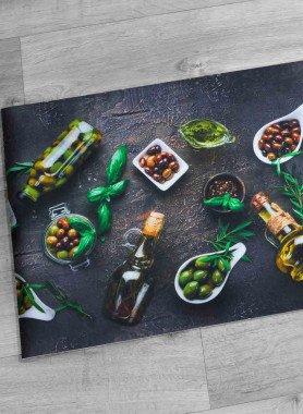 "Tapis de cuisine  DiGITAL ""Olives"""
