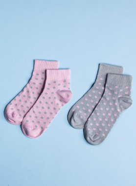 Sneakers pour dames,  2x rose + 2x gris