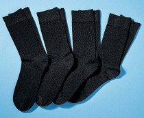 H-City-Socken 4er-Set schwarz 4749 010 - 1 - Ronja.ch