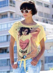 "D-KA-Shirt,""LOVE"" gelb L 015 - 2 - Ronja.ch"