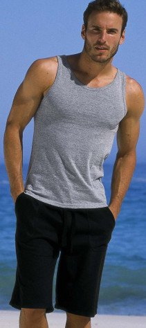 H-Muskel-Shirt, uni schwarz S 010 - 1 - Ronja.ch
