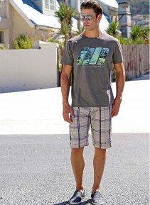 H-Bermuda-Shorts,Karo beige 38 008 - 1 - Ronja.ch