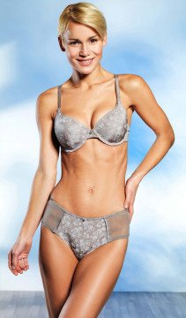 D-Panty, Floral, taupe 36 066 - 1 - Ronja.ch