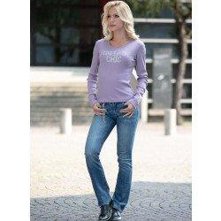 Jeans, chaine déco en strass