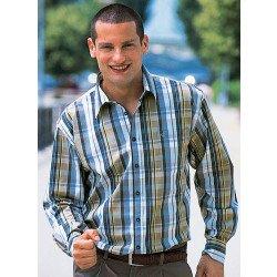 Chemise à manches longues, motif carreaux
