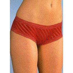 Panty, rayures opaques et transparentes, 3 pièces par couleurs