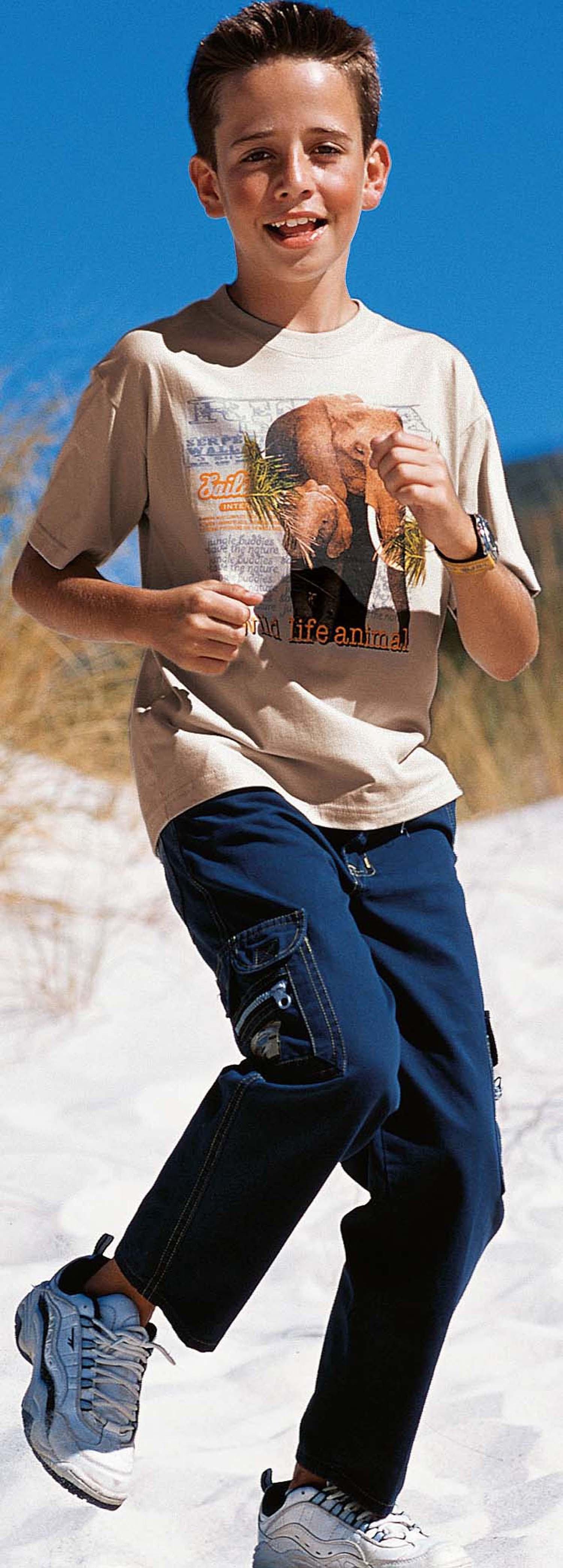 KN-Shirt Elefant sand 128 - 1 - Ronja.ch