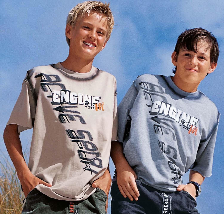 "KN-Shirt ""Engine"" grau 128 003 - 1 - Ronja.ch"