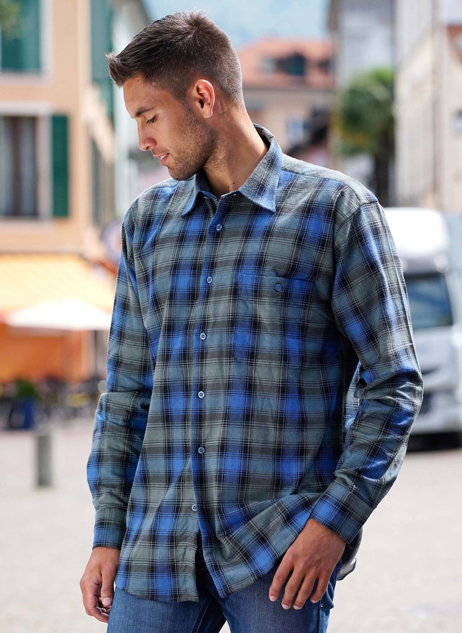 H-Fl-Hemd,karo,blau/grau L - 1 - Ronja.ch