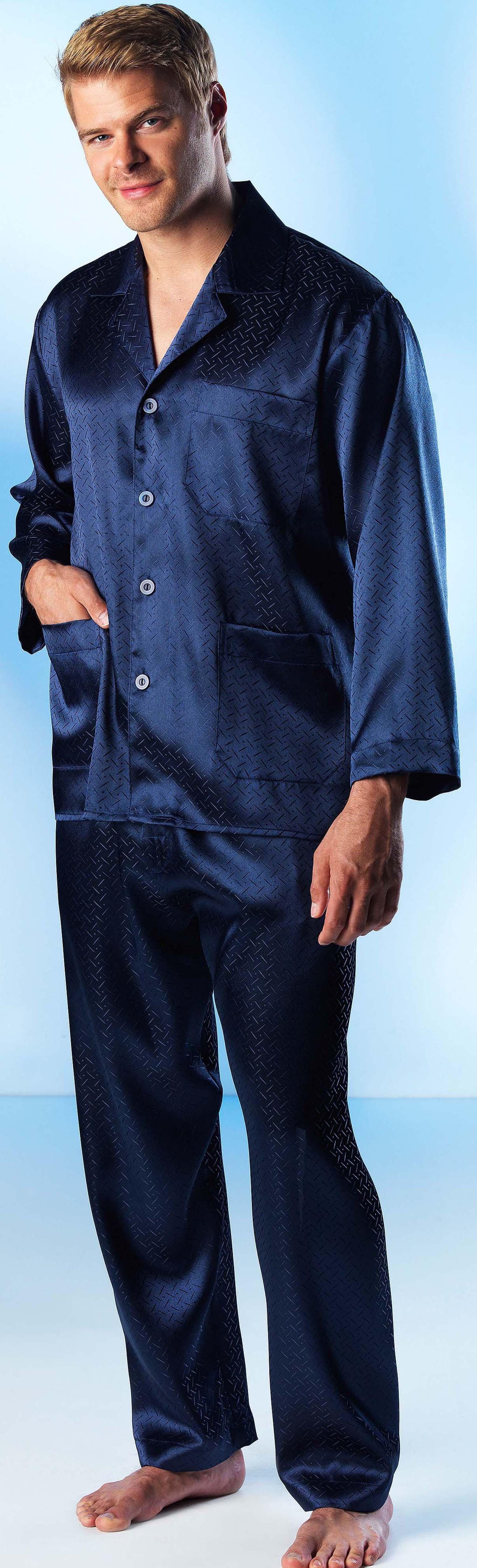 H-Home-Dress/Pyjama marine L 053 - 1 - Ronja.ch