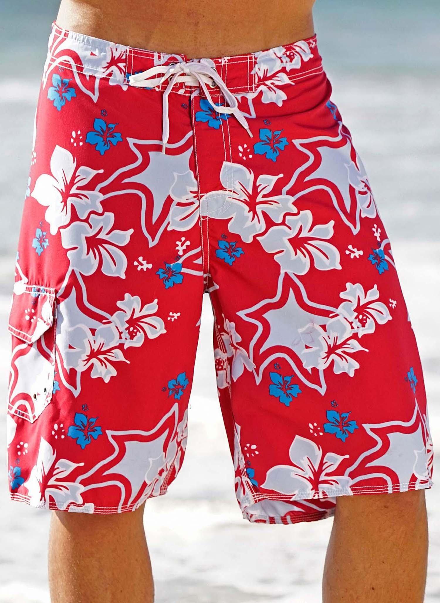 H-Bermuda,Hawaii-Floral-Print L 023 - 1 - Ronja.ch