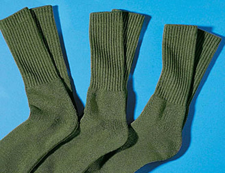 H-Militär-Socken, 3xPaar olive 3538 086