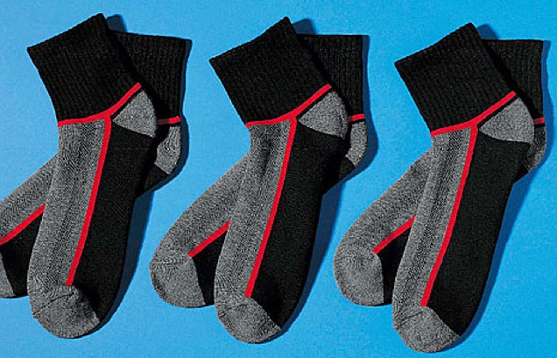 U-Sport-Socken,3xP.sch/gra/rot 3538 010