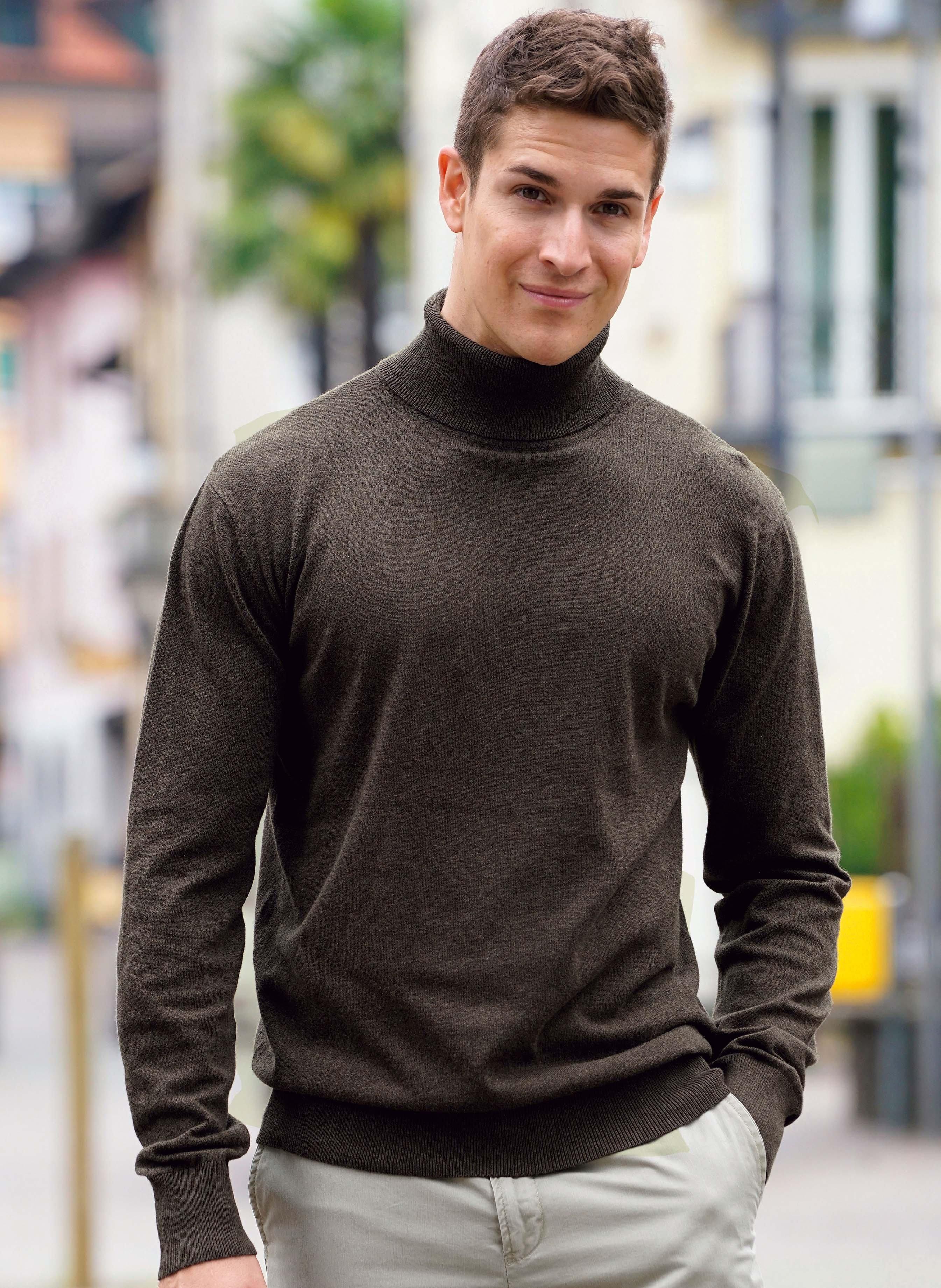 Pullover dolcevita in maglia fine