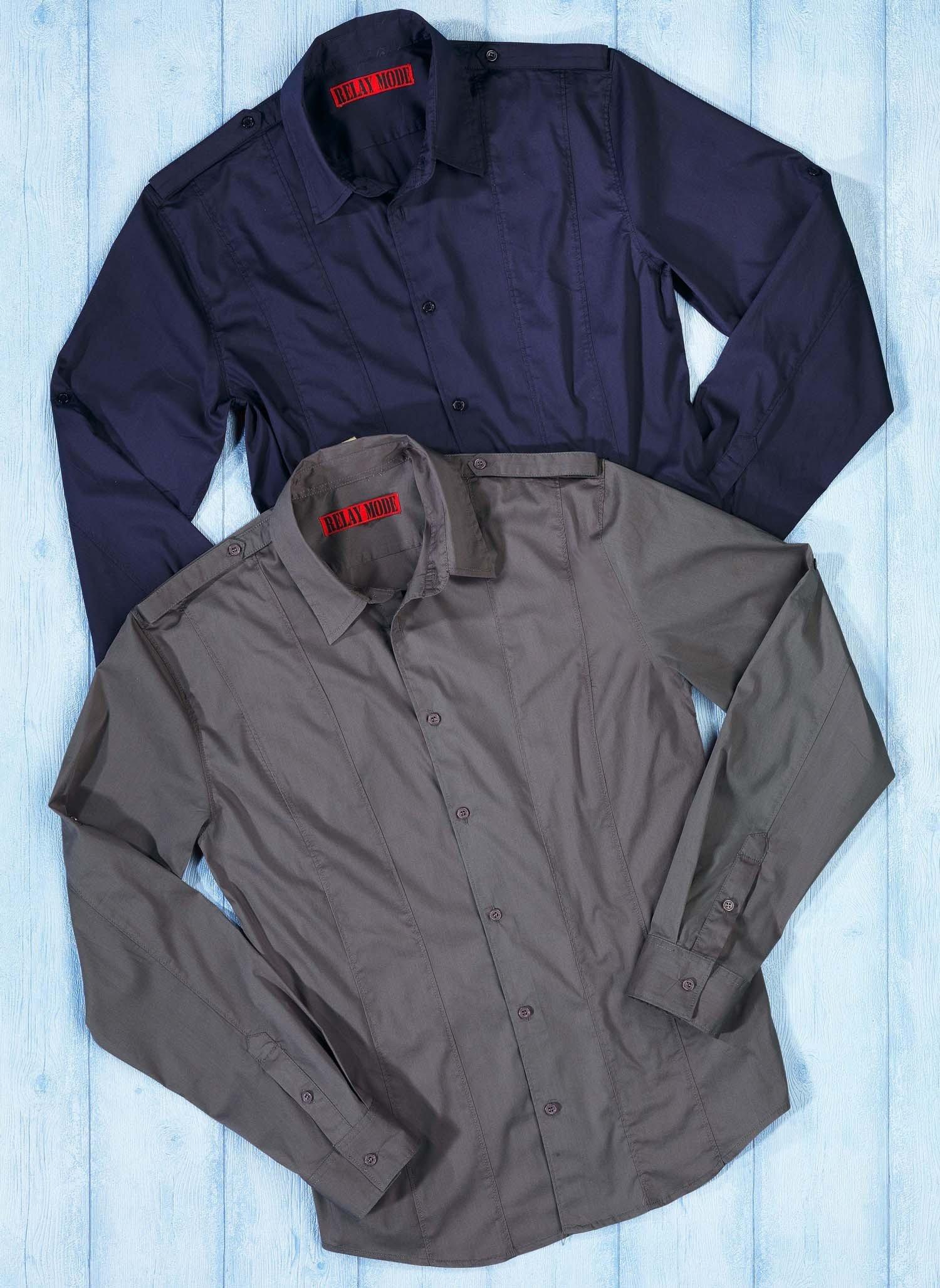 H-LA-Hemd,talliert,grau L 003 - 2 - Ronja.ch