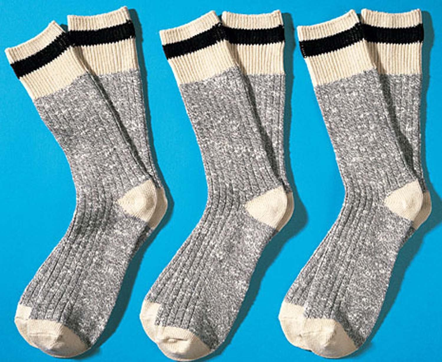 H-Worker-Socken,3er-Set,ecru 3942 009