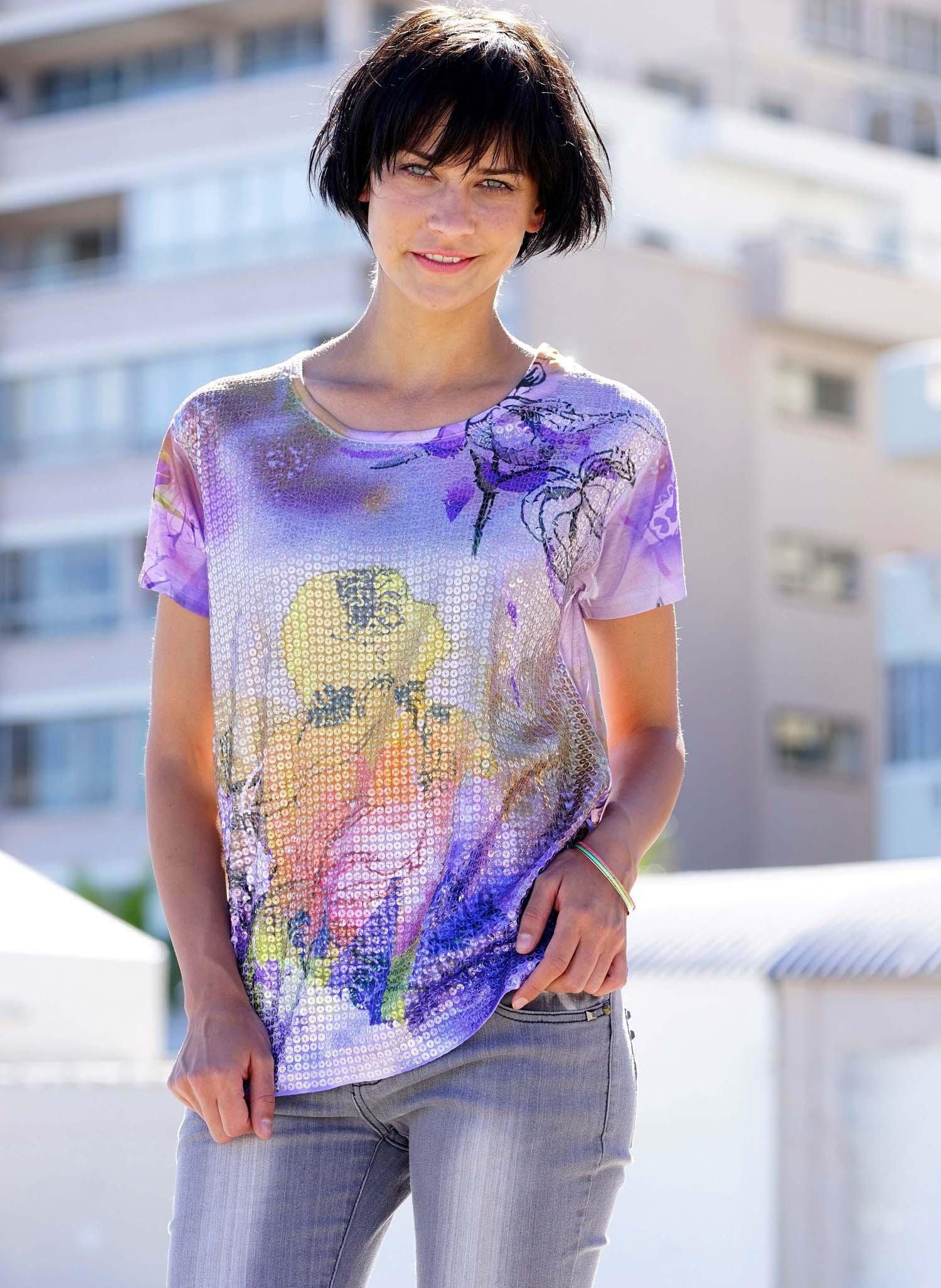 D-KA-Shirt,Girl/Floral.violett L 036 - 1 - Ronja.ch