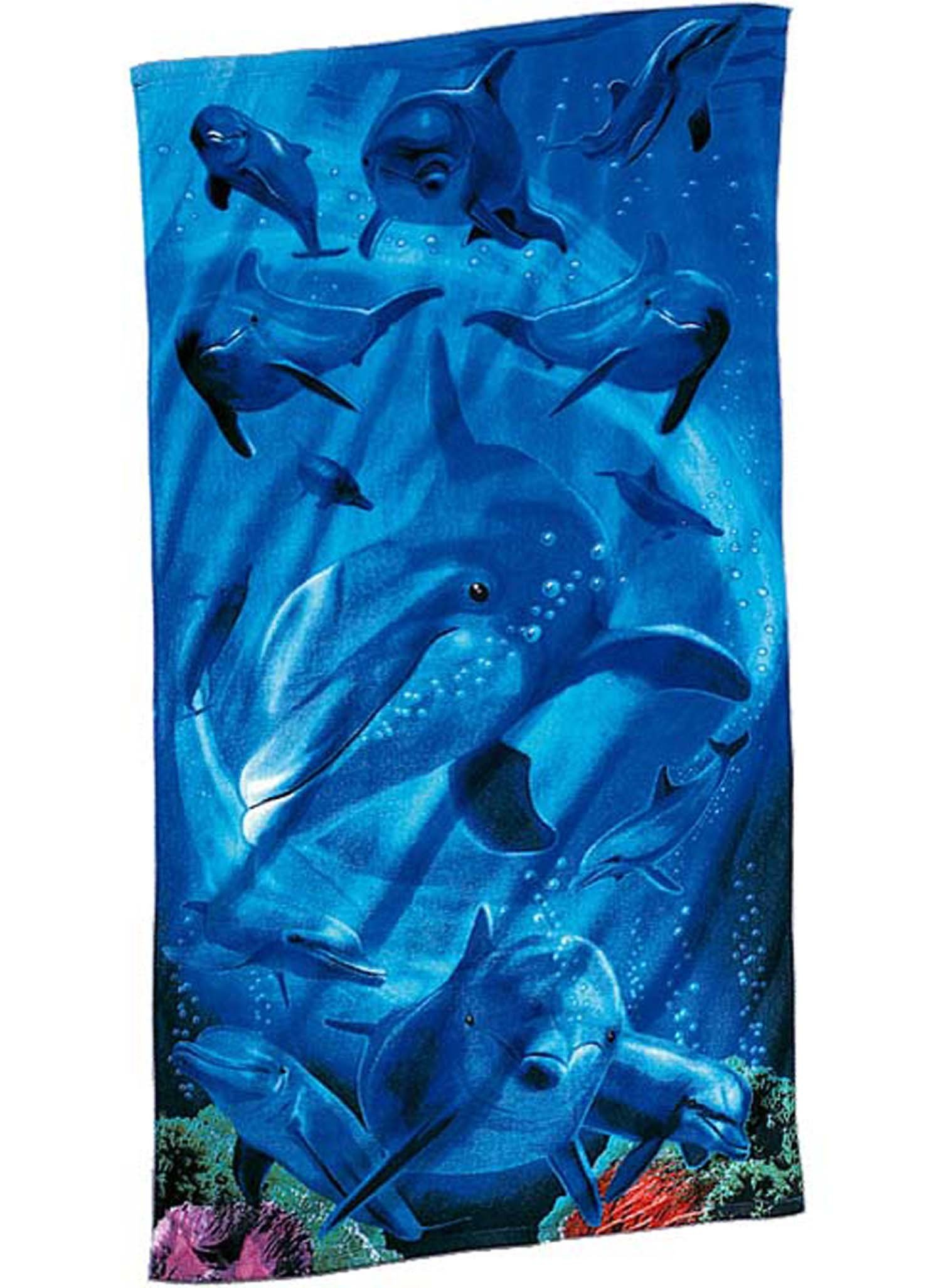 Strandtuch Dolphins 76x152 cm - 1 - Ronja.ch